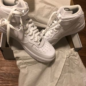 Men's Air Force ones white new with box size 12